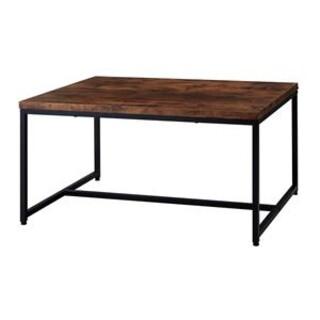 アンティーク風 センターテーブル/ローテーブル 【ブラウン】 幅90(ローテーブル)