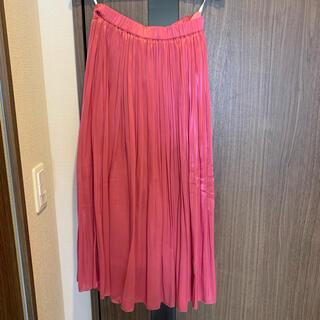 ルージュヴィフラクレ(Rouge vif la cle)のRouge vif la cle プリーツスカート ピンク(ロングスカート)