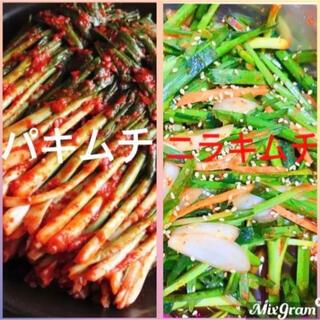 韓国 ネギキムチ&ニラキムチ600g(漬物)