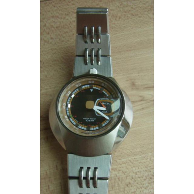 ALBA(アルバ)のAKA☆ツノ、茶色系文字盤☆スモセコ付きクオーツ稼働品 メンズの時計(腕時計(アナログ))の商品写真