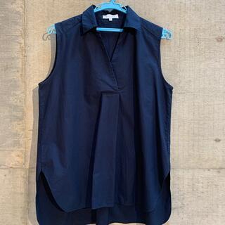 アクアガール(aquagirl)のaqua girl (アクアガール)ノースリーブコットンシャツ(カットソー(半袖/袖なし))
