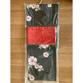 ユニクロ(UNIQLO)の【着付け図解付】浴衣&帯セット(撫子)(浴衣)