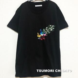 ツモリチサト(TSUMORI CHISATO)の【TSUMORI CHISATO】ツモリチサト 刺繍Peacock Tシャツ(Tシャツ(半袖/袖なし))