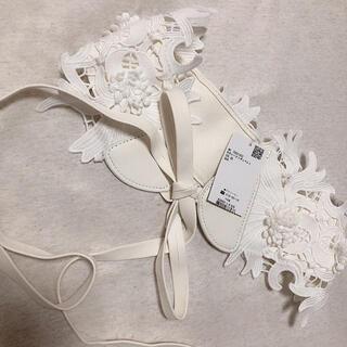 アクシーズファム(axes femme)のお花レースリボンベルト(ベルト)