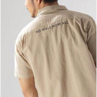 ベイフロー(BAYFLOW)のbayflow ベイフロー コットンリネンファティーグ半袖シャツ ベージュ4/L(シャツ)