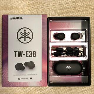 ヤマハ(ヤマハ)のYAMAHA TW-E3B Bluetoothイヤホン ブラック(ヘッドフォン/イヤフォン)