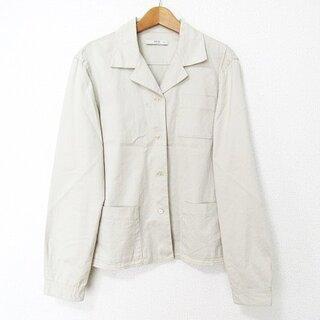 プラダ(PRADA)のプラダ PRADA シャツジャケット ブルゾン 正規品 コットン ベージュ 40(テーラードジャケット)