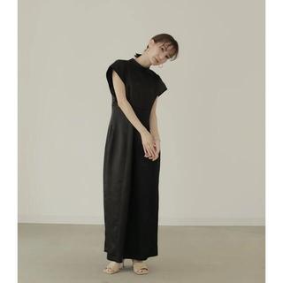 louren standneck slub pencil dress(ロングドレス)