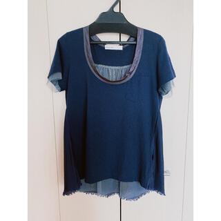 サカイラック(sacai luck)のsacai Tシャツ ネイビー S(Tシャツ(半袖/袖なし))