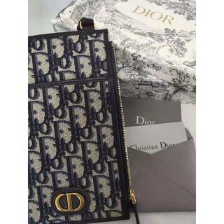 ディオール(Dior)のdior30MONTAIGNEチェーンウォレットディオールオブリーク ジャカード(財布)