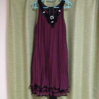 アクシーズファム(axes femme)のボルドー ドレス(ミディアムドレス)