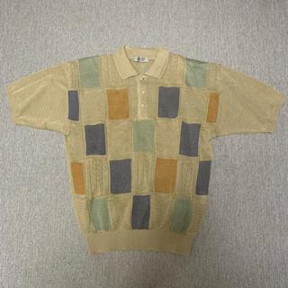 クージー(COOGI)のCOOGI似 クージー 3Dニット ニットポロ 古着 vintage(ポロシャツ)