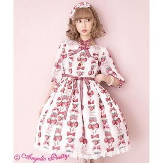 アンジェリックプリティー(Angelic Pretty)のAngelic Pretty Strawberry Dollワンピース 新品(ひざ丈ワンピース)