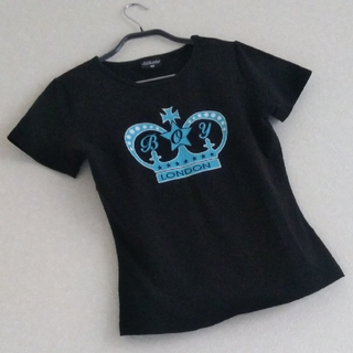 ◆B3 水色 王冠 当時物 レア 未使用 BOY LONDON Tシャツ 黒