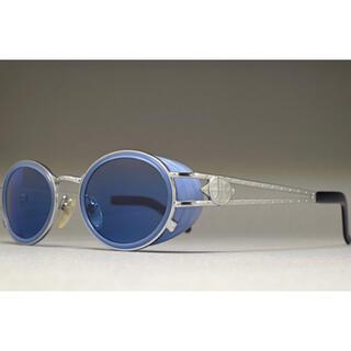 ジャンポールゴルチエ(Jean-Paul GAULTIER)のジャンポールゴルチエ ビンテージ 90s オーバルサングラス サイドシールド 青(サングラス/メガネ)