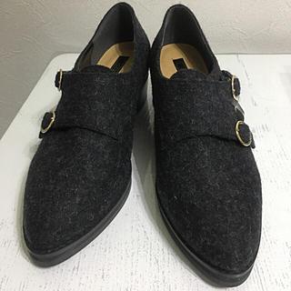 リゾイ(REZOY)の新品 REZOY モンクストラップシューズ 24.0 レディース ダークグレー(ローファー/革靴)
