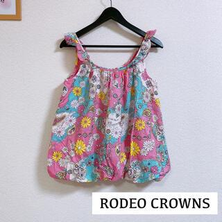 ロデオクラウンズ(RODEO CROWNS)の【RODEO CROWNS】ペイズリー 花柄 トップス(タンクトップ)