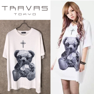 ミルクボーイ(MILKBOY)の【専用】TRAVAS TOKYO くま デザイン ホワイト Tシャツ(Tシャツ/カットソー(半袖/袖なし))