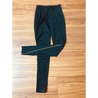 バーニーズニューヨーク(BARNEYS NEW YORK)のluz trail  ジッパー パンツ ブラック サイズ36(その他)