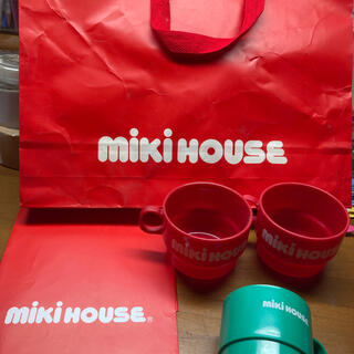 ミキハウス(mikihouse)のミキハウスショッパーとカップのセット(ショップ袋)