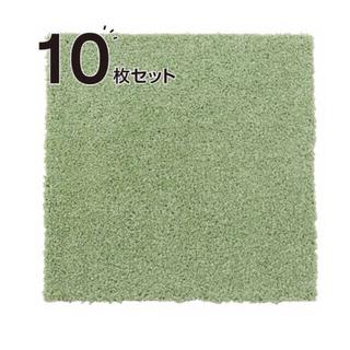 ニトリ(ニトリ)の【廃盤カラー】ニトリ タイルカーペット シャギー グリーン(カーペット)