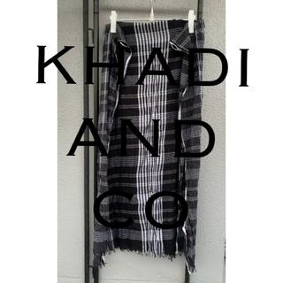 コモリ(COMOLI)のkhadi and Co ストール 定価1.6万 A&S取扱(ストール)