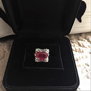 ハート形 新品 ダイヤモンドプラチナリングとシャネル1pネックレス(リング(指輪))