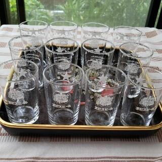 サッポロ(サッポロ)のレトロ、一口グラス12個、サッポロビール(アルコールグッズ)