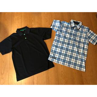 ティゴラ(TIGORA)の二点セット ティゴラ イグニオ メンズゴルフ半袖ポロシャツ サイズM(ウエア)