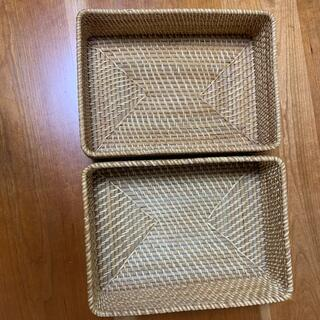 ムジルシリョウヒン(MUJI (無印良品))の送料込み 無印良品 ラタン2個セット(バスケット/かご)