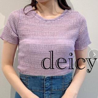 デイシー(deicy)のdeicy シアーブルーゼレースアップトップス(カットソー(半袖/袖なし))