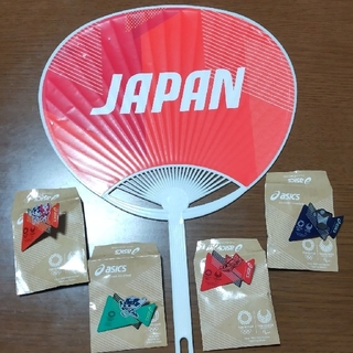 アシックス(asics)の東京2020オリンピック asicsピンバッジ【非売品】(ノベルティグッズ)