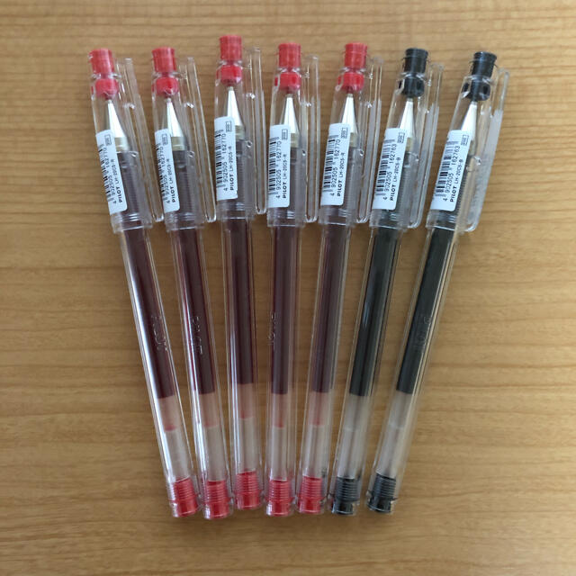 HI-TEC(ハイテック)のハイテック  0.5  黒2本  赤5本  インテリア/住まい/日用品の文房具(ペン/マーカー)の商品写真