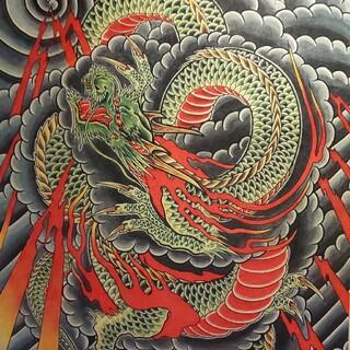 トウヨウエンタープライズ(東洋エンタープライズ)の「雷龍」A4サイズ TATTOO フラッシュ 錦絵 浮世絵 入墨 和柄(スカジャン)