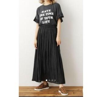 ロデオクラウンズワイドボウル(RODEO CROWNS WIDE BOWL)のRCWB*ヴィンテージサテンギャザースカート(ロングスカート)