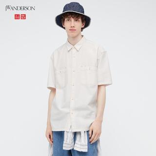 ユニクロ(UNIQLO)のオーバーサイズチェックワークシャツ(半袖)(シャツ)
