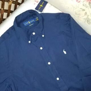 ラルフローレン(Ralph Lauren)の新品☆ラルフローレン 長袖シャツ  紺 US S(シャツ)