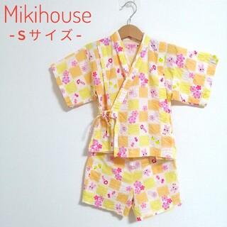 ミキハウス(mikihouse)の【新品同様!】 MIKIHOUSE HOTBISCUITS 甚平 90cm(甚平/浴衣)