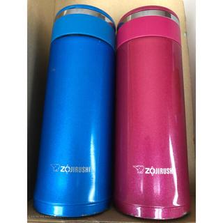 ゾウジルシ(象印)の象印 水筒 360ml 2本 ピンク ブルー(水筒)