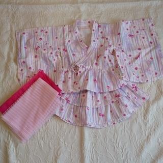 メゾピアノ(mezzo piano)のメゾピアノ 浴衣ドレス 90センチ(甚平/浴衣)