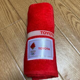 トヨタ(トヨタ)の【非売品】聖火リレー トヨタノベルティータオル(タオル/バス用品)