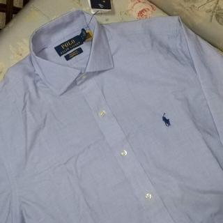 ラルフローレン(Ralph Lauren)の新品☆ラルフローレン 長袖シャツ  水色 15サイズ(シャツ)