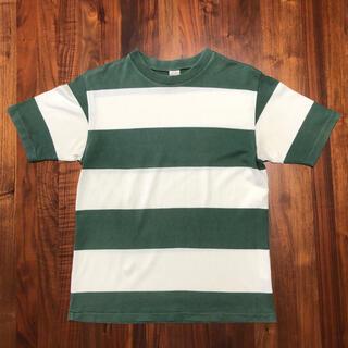 ウエアハウス(WAREHOUSE)のウエアハウス 半袖 ボーダーTシャツ グリーン✖️ホワイト(Tシャツ/カットソー(半袖/袖なし))