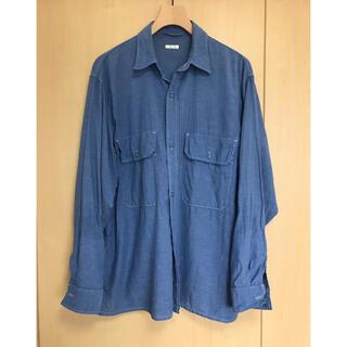 コモリ(COMOLI)のcomoli 21ss ベタシャン cpoシャツ SAX サイズ2(シャツ)