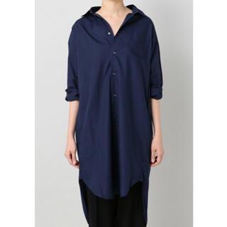 ドゥーズィエムクラス(DEUXIEME CLASSE)のAMERICANA インディゴ染ローン シャツ DRESS(ひざ丈ワンピース)