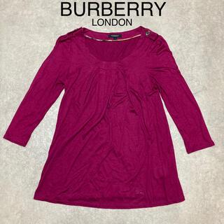 バーバリー(BURBERRY)のBURBERRY LONDON プリーツ エポレット 付 ブラウス カットソー(Tシャツ(長袖/七分))