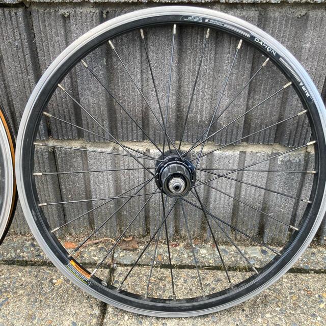DAHON(ダホン)のDAHON ホイール ETRTO406 前後輪 仏式 スポーツ/アウトドアの自転車(パーツ)の商品写真