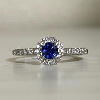 ベニトアイト0.31ct ダイヤモンド0.18ct(リング(指輪))