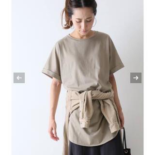 フレームワーク(FRAMeWORK)の2020ss フレームワーク コットン天竺ラウンドヘムチュニック(Tシャツ(半袖/袖なし))