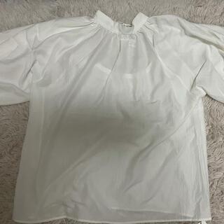 ヘザー(heather)のスタンドカラープルオーバー(5分袖)(Tシャツ(半袖/袖なし))